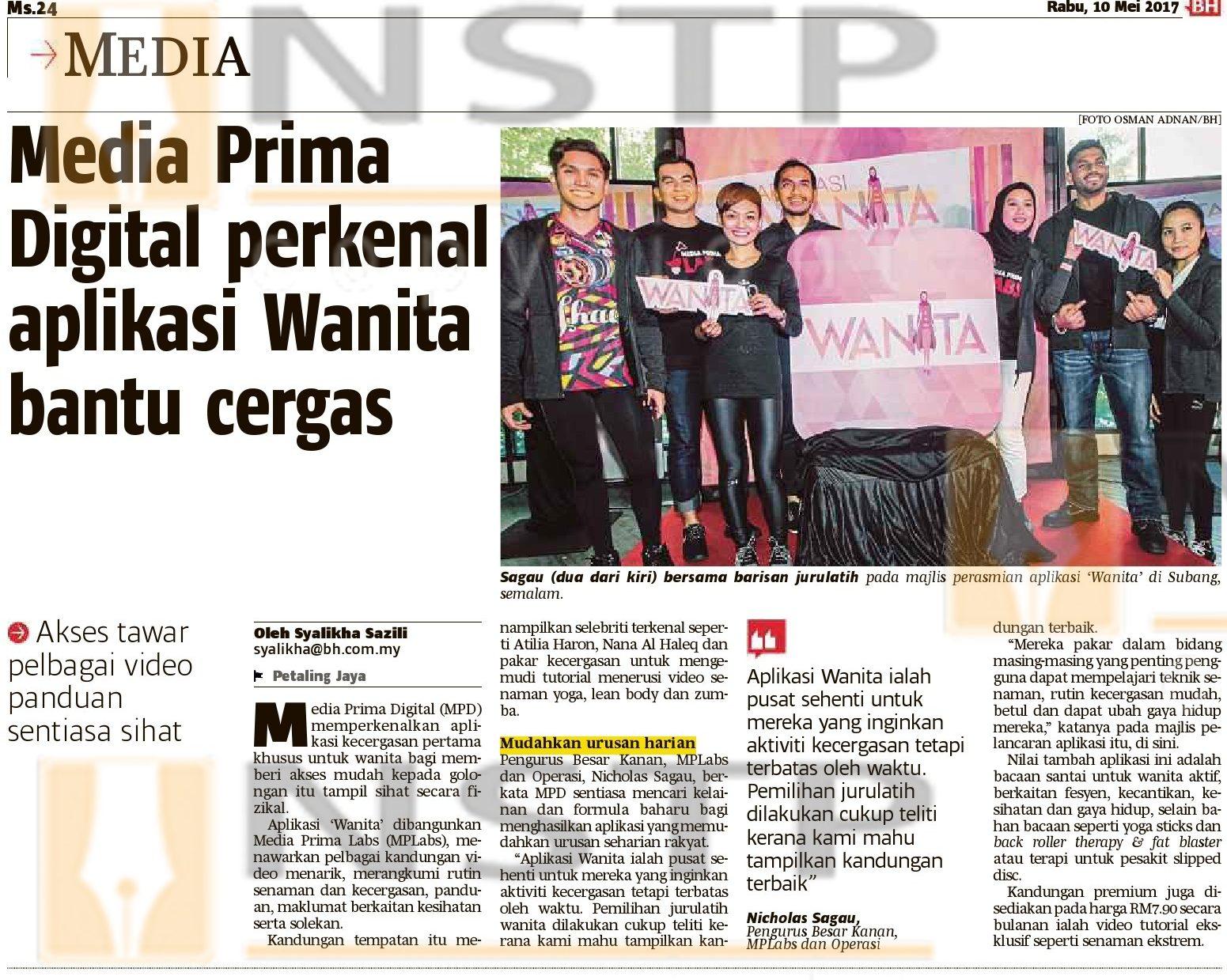 Media Prima Digital perkenal aplikasi Wanita bantu cergas